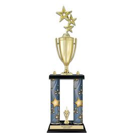 "22"" Black Finished Award Trophy w/ Loving Cup & Trim"
