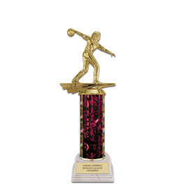 "11"" White HS Base Award Trophy"