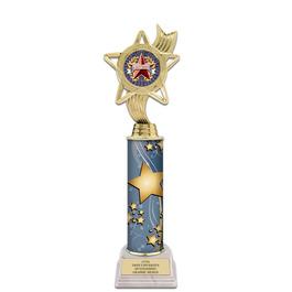 "12"" White HS Base Award Trophy w/ Insert Top"