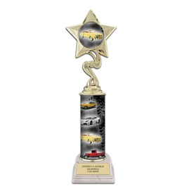 """11"""" Design Your Own Trophy w/ White HS Base"""