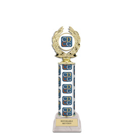 """12"""" Design Your Own Trophy w/ White HS Base"""