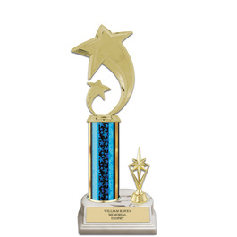 """11"""" White HS Base Award Trophy w/ Trim"""