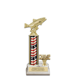 "12"" White HS Base Award Trophy w/ Trim"