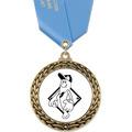 GFL Baseball Award Medal w/ Satin Neck Ribbon
