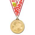 BL Baseball Award Medal w/ Grosgrain Neck Ribbon