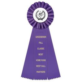 Ideal Baseball Rosette Award Ribbon