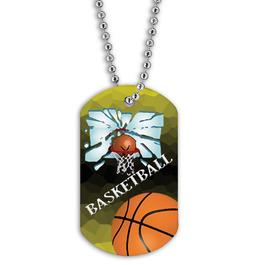 Full Color Basketball Hoop Dog Tags