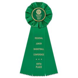 Empire Basketball Rosette Award Ribbon