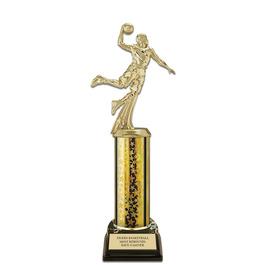 "11"" Black HS Base Basketball Award Trophy"