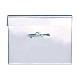 "4"" x 3"" Convention Cardholder w/ Safety Pin"