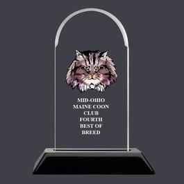 Arch Acrylic Cat Show Award Trophy