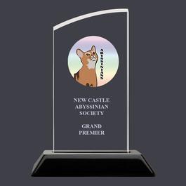 Swatch Acrylic Cat Show Award Trophy