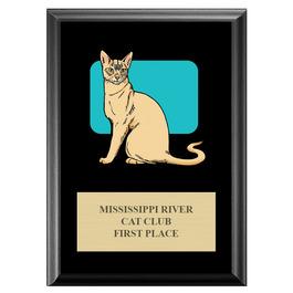 Full Color Custom Cat Show Plaque - Black