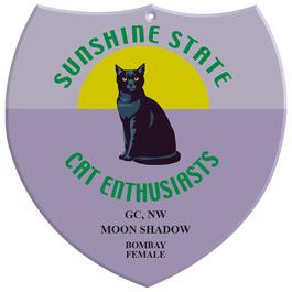 Full Color Cat Show Wall Plaque - Shield Shape