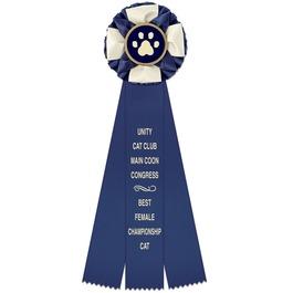 Iverson Cat Show Rosette Award Ribbon