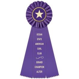 Ideal Cat Show Rosette Award Ribbon