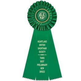 Luxury Cat Show Rosette Award Ribbon