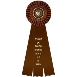 Shannon Cat Show Rosette Award Ribbon