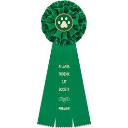 Rutland Cat Show Rosette Award Ribbon