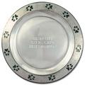 Pewtarex™ Paw Print Rim Cat Show Award Plate