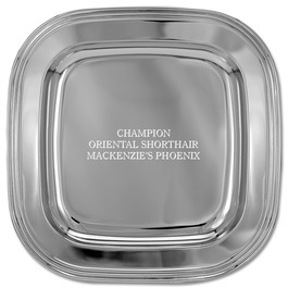 Square Cat Show Award Tray