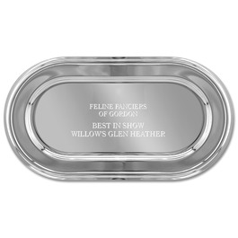 Oval Cat Show Award Tray