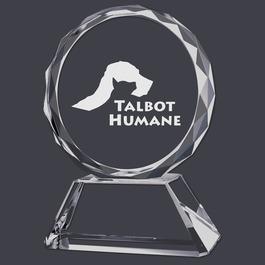 Round Optical Crystal Cat Show Award