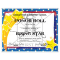 Custom School Award Certificates - Stars Design