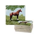 Full Horse Tumbled Stone Coasters