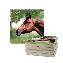 Horse Head Tumbled Stone Coasters
