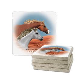 Run Free Tumbled Stone Coasters