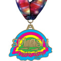 HH Color Run and Mud Run Award Medal w/ Millennium Neck Ribbon