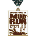 HE Color Run and Mud Run Award Medal w/ Millennium Neck Ribbon