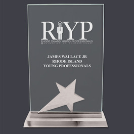 Crystal Star Desk Plaque