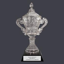 Devon Optical Trophy Cup w/ Black Optical Crystal Base