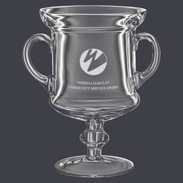 Glass Award Trophy w/ Handles