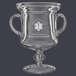 Glass Award Trophy w/ Handles