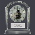Optical Crystal Desk Clock Dog Show Award