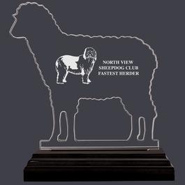 FREE Engraving Premium Acrylic Colour Paw Pet Animal Dog Show Award Trophy