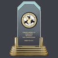 Pop-In™ Jade Acrylic Dog Show Award Trophy w/ Pedestal Base