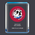 Blue Shimmer Dog Show Acrylic Award Trophy