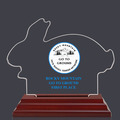 Rabbit Shaped Dog Show Acrylic Award Trophy