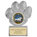 Paw Print Acrylic Dog Show Award Trophy