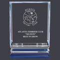 Engraved Acrylic Dog Show Trophy w/ Blue Reflective Base