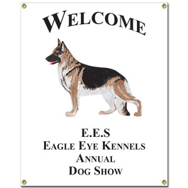 Custom Vinyl Dog Show Banner - Vertical