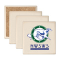 Square Sandstone Dog Show Award Coasters