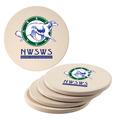 Round Sandstone Dog Show Award Coasters