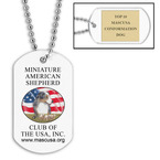 Custom Dog Show Dog Tags w/ Engraved Plate