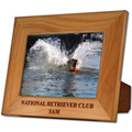Red Alder Engraved Wooden Dog Show Award Frame