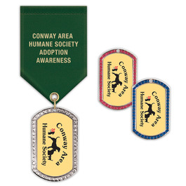 GEM Tag Dog Show Award Medal w/ Satin Drape